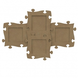 Gomille MDF puzzelstuk lijst 18 x 18 cm dikte 6 mm 1 stuk