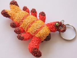 Creepy-Crawly (griezelige sluiper) kreeft wit sleutelhanger 8 cm
