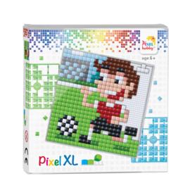 Pixelhobby Pixel XL set voetballer 12 x 12 cm