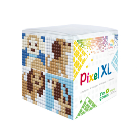 Pixelhobby XL mosaic kubussetje honden 6,2 x 6,2 cm