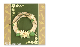 Leane Creatief clear stamp Wreath (krans) 55.0386