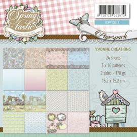 Yvonne Creations Spring-tastic Paperpack YCPP10011 24 vellen