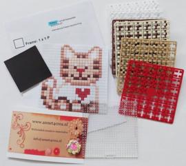 Pixelhobby compleet pakket kitten magneet