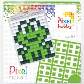Pixelhobby Pixel mosaic medaillon startset kikker sleutelhanger
