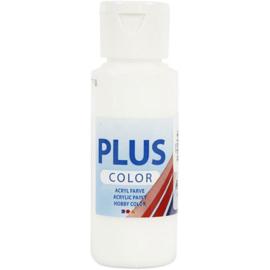 Plus Color acrylverf wit fles 60 ml