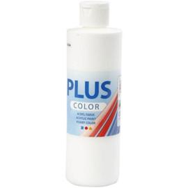 Plus Color acrylverf white (wit) 39477 fles 250 ml