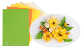 Leane Creatief Flower Foam set 4 yellow colours 25.4087 6 vellen assorti A4
