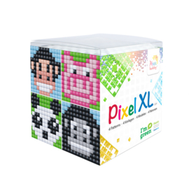 Pixelhobby XL mosaic kubussetje dieren (1) 6,2 x 6,2 cm
