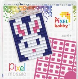 Pixelhobby Pixel mosaic medaillon startset konijn sleutelhanger