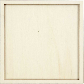 Lijst triplex buitenmaat 10 x 10 cm binnenmaat 9 x 9 cm dikte 5 mm