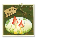 Leane Creatief Wood shapes Tags rectangle (labels) 15 stuks LCR71.2465