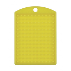 Pixelhobby medaillon plaatje geel 3 x 4 cm