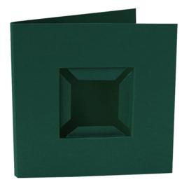 Kaarten passe-partout dubbele ril voorkant groen 4 stuks