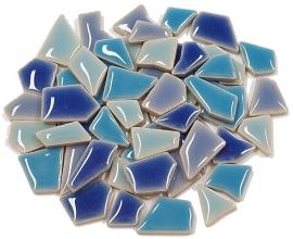Flip keramische mini mix mozaïek blauw bakje à 65 gram