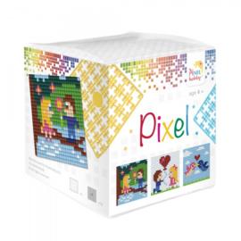 Pixelhobby Pixel mosaic kubussetje liefde 6,2 x 6,2 cm