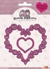 Yvonne Creations mal Love Collection Rose Heart CDD10004