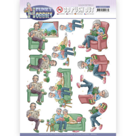 Yvonne Creations Funky Hobbies Reading 3D push out SB10513 stansvel A4
