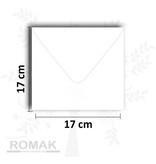 Enveloppen vierkant wit 20 stuks 17 x 17 cm 100 grams