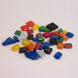 Soft Glas mozaïek glittermix bakje à 65 gram