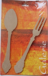 MDF Rico Design Galerie Spoon & Fork (lepel & vork) 5 mm dik