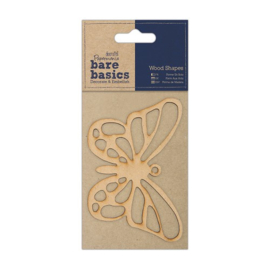 Docrafts Papermania bare basics wood shape butterfly (vlinder) PMA 174606