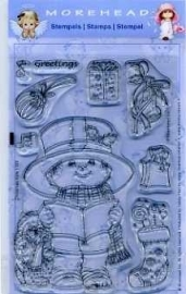 Morehead stempel clear Christmas Kids greetings 1105