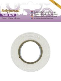 Hobbyjournaal foam tape 2 meter x 12 mm x 1 mm HJTAPE1