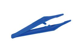 Pincet kunststof blauw 3,4 x 1 x 12,8 cm voor Pixelhobby