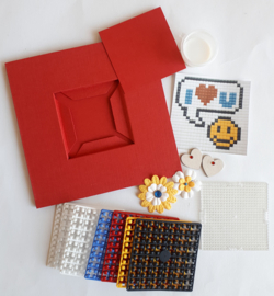 Pixelhobby compleet pakket I love you smiley kaart + gratis envelop