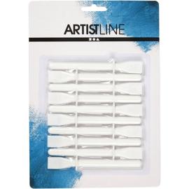 Artistline spatels van wit plastic 10 stuks 11,2 cm hoog