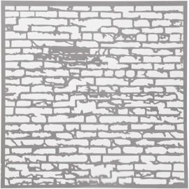 Sjabloon stenen muur 30,5 x 30,5 cm dikte 0,31 mm