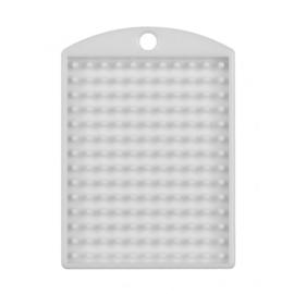 Pixelhobby medaillon plaatje wit 3 x 4 cm