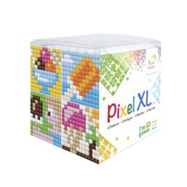 Pixelhobby XL mosaic kubussetje ijsjes 6,2 x 6,2 cm