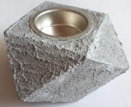 Waxinelichthouder hout bewerkt met Concrete Beton Effekt
