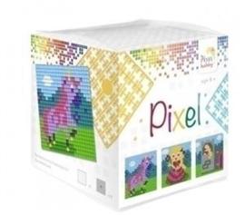 Pixelhobby Pixel mosaic kubussetje prinses 6,2 x 6,2 cm