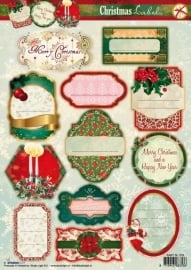 StudioLight Christmas Labels EASYSL319 stansvel A4