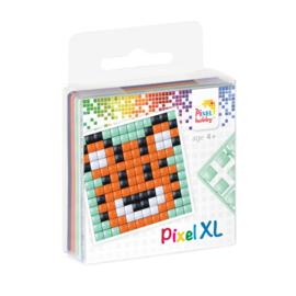 Pixelhobby XL fun pack tijger 6,2 x 6,2 cm