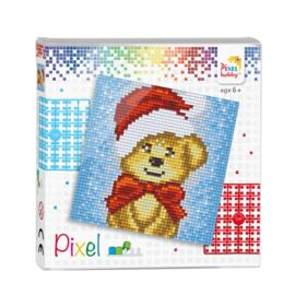 Pixelhobby Pixel set Kerstbeertje 12 x 12 cm