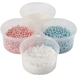 Pearl Clay 3 x 25 gram pearls lichtblauw, lichtroze, wit en 38 gram gel