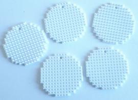 Kerstballen middel 5 stuks (gesneden uit wit flexibele basisplaat) 3,8 x 3,8 cm