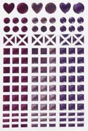 Mosaic (mozaïek) stickervel paars 11 x 16,5 cm