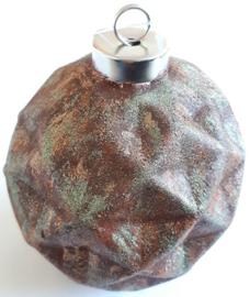 Terracotta ornament rond bewerkt met Trenddekor Rost (roest effekt)