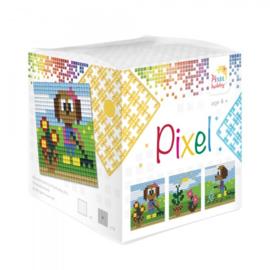Pixelhobby Pixel mosaic kubussetje tuinieren 6,2 x 6,2 cm