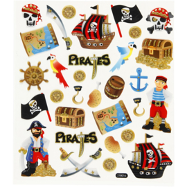 Stickervel 15 x 16,5 cm  piraten 218016