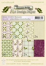 LeCreaDesign Christmas A5 Design Paper 51.8312 Romantic
