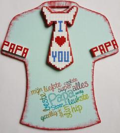 Joy!Crafts MDF t-shirt met stropdas bewerkt met Pixelhobby