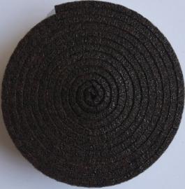 HobbyFun Trendy viltband bruin 1,5 m lang 2 cm breed en 3 mm dik
