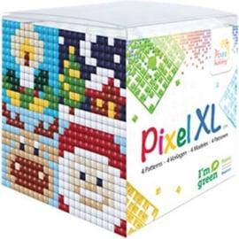 Pixelhobby XL mosaic kubussetje Kerst 6,2 x 6,2 cm