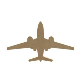 Gomille MDF vliegtuig 18,4 x 11 cm dikte 5 mm