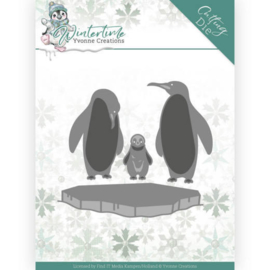 Yvonne Creations Winter Time die (mal) Penguins on ice YCD10218